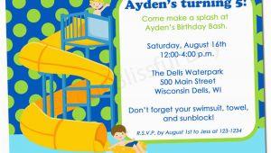 Water Park Birthday Invitations Printable Boy Waterpark Party Invitation 598