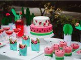 Watermelon Birthday Party Decorations Kara 39 S Party Ideas Watermelon Birthday Party Kara 39 S