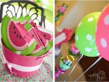 Watermelon Birthday Party Decorations Watermelon Party Claire is 1 Chickabug