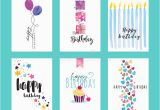 Website for Birthday Cards Set Of Birthday Greeting Card Templates Stock Vector