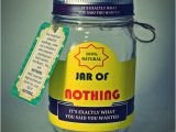 Weird Birthday Gifts for Boyfriend Best Gag Gift A Jar Of Nothing Funny Gift for