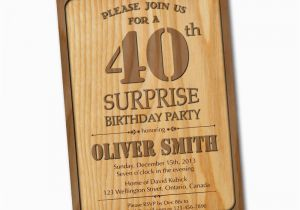 Western Birthday Invitations For Adults 40th Invitation Wood Adult