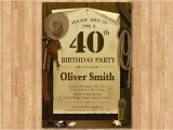 Western Birthday Invitations for Adults 40th Western Birthday Invitation 30th 40th 50th 60th 70th