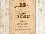 Western Birthday Invitations for Adults Cowboy Birthday Invitation Kids Adult Birthday Invite Boots