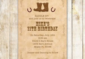 Western Birthday Invitations For Adults Cowboy Invitation Kids Adult Invite Boots