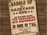 Western Birthday Invitations for Adults Western Invitation 4th Of July Invitation Birthday