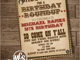 Western Birthday Invitations for Adults Western Invitation 4th Of July Invitation by