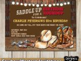 Western Birthday Invitations for Adults Western Invitations Cowboy 39 S Party Western Party Cowboy