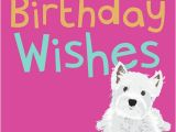 Westie Birthday Cards Dogs Trust Waggy Tails Card Westie On Pink Buy Online