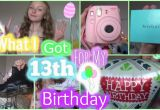 What Should I Get for My 13th Birthday Girl What I Got for My 13th Birthday Youtube