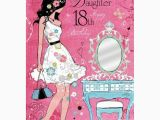 What to Buy for A 18th Birthday Girl Wonderful Daughter 18th Birthday Card Karenza Paperie