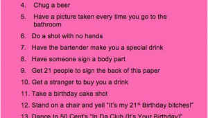 What to Buy for A 21st Birthday Girl What are some Good Ideas for A 21st Birthday Checklist