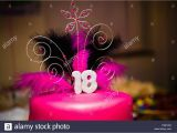 What to Do for 18th Birthday Girl A Teenage Girl 39 S 18th Birthday Party Pink Cake Uk Stock