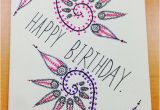 What to Draw On A Birthday Card Hand Drawn Birthday Card by Cardsbys On Etsy 5 00