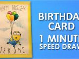 What to Draw On A Birthday Card How to Draw Minion Birthday Card Step by Step Learning