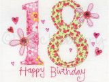 What to Get for An 18th Birthday Girl 18th Birthday Card 18th Greeting Card Eighteenth