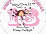 What to Get for An 18th Birthday Girl Happy 18th Birthday Girl Edible Cake topper
