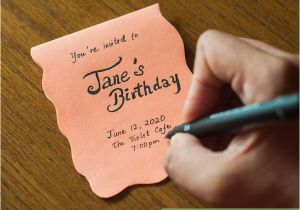 What to Include In A Birthday Invitation 3 Ways to Create Your Own Birthday Invitations Wikihow