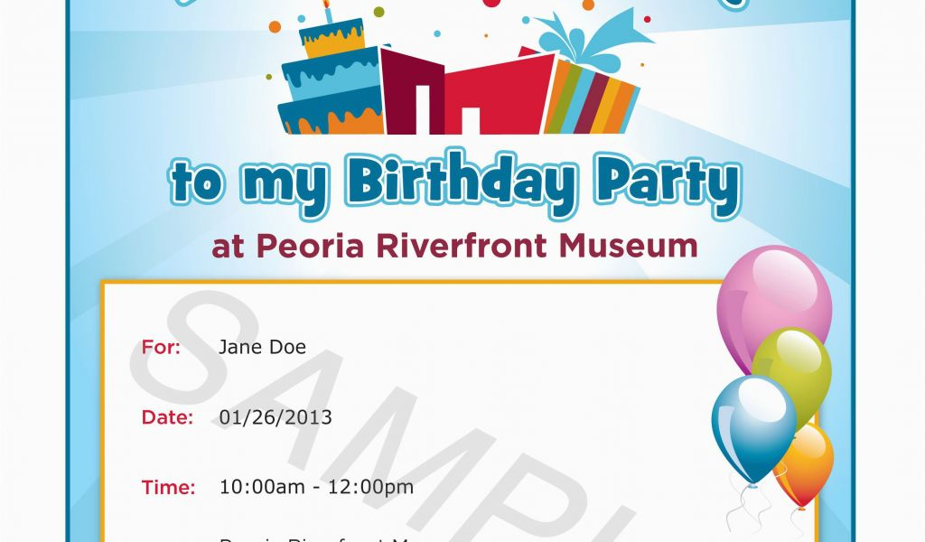 What To Include In A Birthday Invitation Invitations Email
