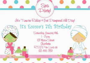 What to Include In A Birthday Invitation Spa Birthday Party Invitations Party Invitations Templates