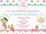 What to Put On A Birthday Invitation Spa Birthday Party Invitations Party Invitations Templates