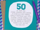 What to Say In A 50th Birthday Card by Your Age Funny 50th Birthday Card by Paper Plane