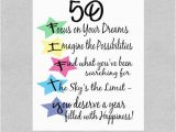 What to Say In A 50th Birthday Card Items Similar to 50th Birthday Card Milestone Birthday
