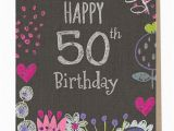 What to Say In A 50th Birthday Card Sarah Kelleher Happy 50th Birthday Card Sarah Kelleher Card