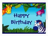 What to Say In A Birthday Card to A Friend Jungle Friends Say Happy Birthday Card Zazzle