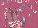 What to Say to A Birthday Girl Birthday Girl Shoes Card Lola Cardspark