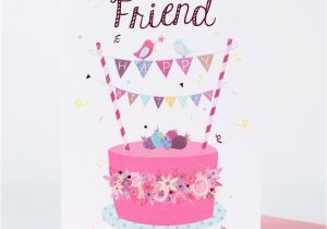 What To Say A Friend In Birthday Card Cake Only 1