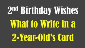 What to Write In 2 Year Old Birthday Card Second Birthday Wishes Messages and Poems Birthday