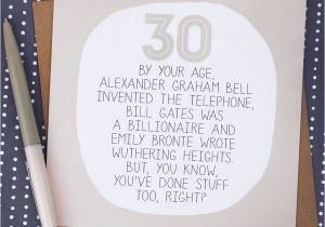 What To Write In A 30th Birthday Card By Your Age Funny