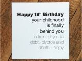 What to Write In A 50th Birthday Card Funny Funny 18th Birthday Card 39 Childhood is Behind You 39 by