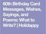 What to Write In A 60th Birthday Card 25 Unique 60th Birthday Poems Ideas On Pinterest
