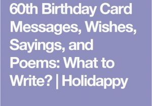 What To Write In A 60th Birthday Card 25 Unique Poems Ideas On Pinterest