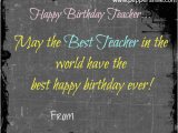 What to Write In A Birthday Card for Your Teacher Happy Birthday to Teacher