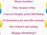 What to Write In A Birthday Card for Your Teacher Happy Birthday Wishes for Teacher Images Messages and Quotes