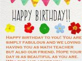 What to Write In A Birthday Card for Your Teacher Teacher Happy Birthday Wishes and Quotes Happy Birthday