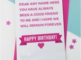 What to Write In A First Birthday Card Best Friend Birthday Card with Name