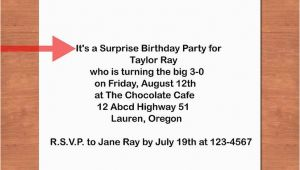 What to Write In A Surprise Birthday Invitation How to Write A Birthday Invitation 14 Steps with Pictures