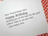 What to Write In An 18 Birthday Card Write Name On Cool Birthday Card for Any Friend Happy