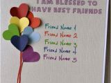 What to Write In Best Friends Birthday Card Friendship Card with Name