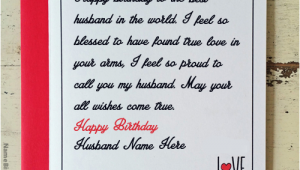 What to Write In Husband S Birthday Card Write Name On Love Birthday Card for Husband Happy