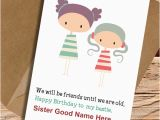 What to Write In Sister S Birthday Card My Cutest Sister Name Write Birthday Wish Card Pictures