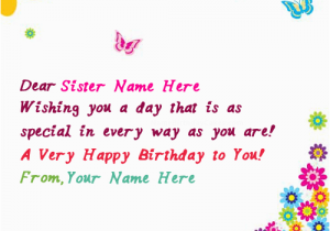 What To Write In Sister S Birthday Card Name On Butterflies For