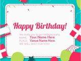 What to Write On Birthday Invitations Create Birthday Invitation Card with Your Name Online
