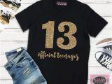Where Can I Buy A Birthday Girl Shirt Girls 13th Birthday Shirt Double Digits Shirt Girls