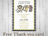 Where the Wild Things are Birthday Card where the Wild Things are Birthday by Maypartyprintables