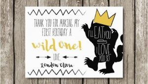 Where the Wild Things are Birthday Card where the Wild Things are Birthday Party Thank You Card Wild